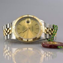 Rolex DateJust 16263 Turn O Graph in Stahl / Gold top Zustand Box