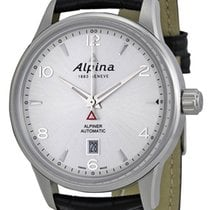 Alpina Alpiner Automatic Steel Mens Strap Watch Silver Dial...
