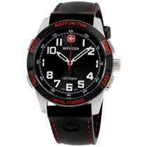 Wenger Led Nomad Black Dial Silicone Strap Men's Watch 70430