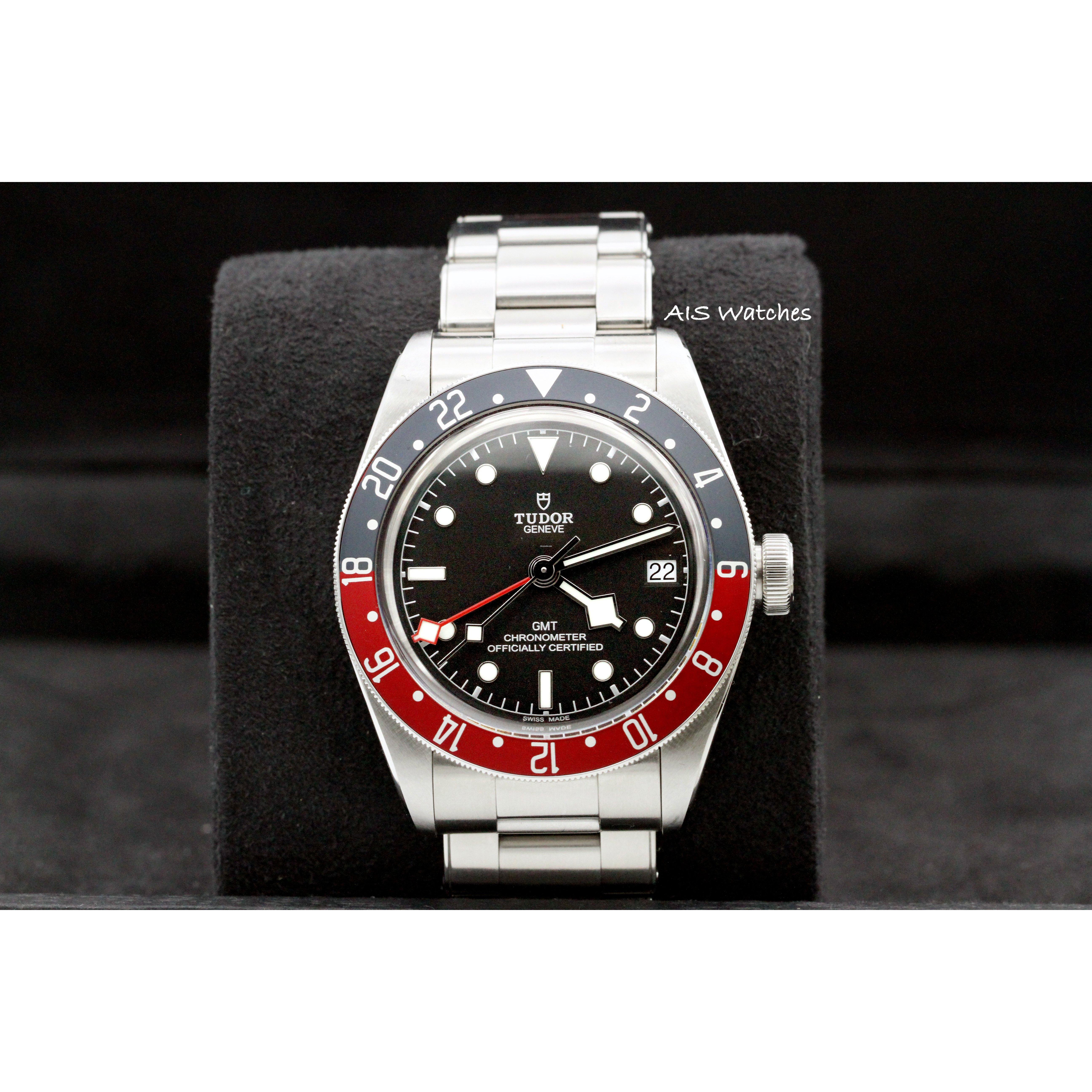 aaf89481dda Tudor 79830RB Black Bay GMT Pepsi Stainless Steel Bracelet Box & Papers