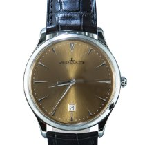 Jaeger-LeCoultre Master Ultra Thin Date Acero 40mm Champán Sin cifras