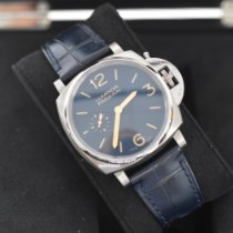 Panerai Luminor Due Titanium 42mm Blue Arabic numerals