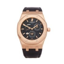 Audemars Piguet Royal Oak Dual Time Pозовое золото 39mm Чёрный