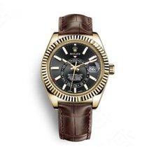 Rolex Yellow gold Automatic Black Roman numerals 42mm new Sky-Dweller