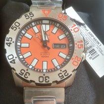 Seiko Monster Steel 44mm Orange No numerals