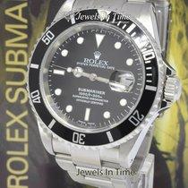 Rolex Submariner Date подержанные 40mm Чёрный Сталь