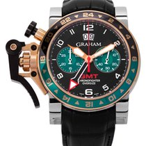 Graham Chronofighter Oversize Staal 47mm