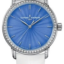 Ulysse Nardin Classico White gold 37mm Blue