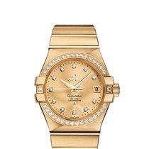 Omega Constellation Ladies Gelbgold 35mm Champagnerfarben