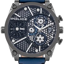 Police Steel 51mm Quartz PL15381JSU.61B new