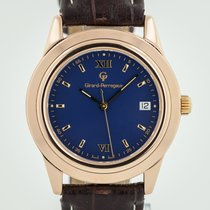 Girard Perregaux Rose gold Automatic Blue Roman numerals 38.2mm pre-owned