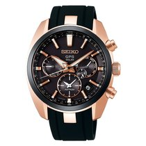 Seiko Rose gold Chronograph 41mm new Astron GPS Solar Chronograph