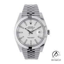 Rolex Datejust Steel 41mm White No numerals United States of America, New York, New York
