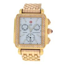 Michele New Ladies Deco MW06P01B4046 MOP Diamond Quartz...
