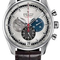 Zenith El Primero 36'000 VpH new 2013 Automatic Chronograph Watch with original box 03.2040.400-69.C494
