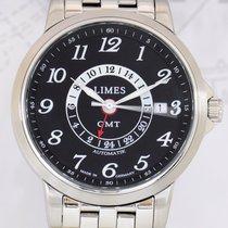 Limes Principio GMT automatik Klassiker Stahl black Dial...