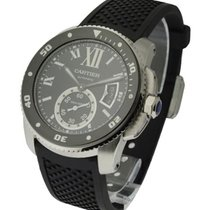 Cartier W7100056 Calibre De Cartier Diver in Steel - On Black...