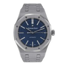 Audemars Piguet AP Royal Oak 41 Stainless Steel Blue Dial Watch