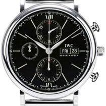 IWC Portofino Chronograph Milanese Mesh Bracelet Swiss...