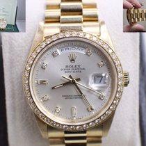 Rolex President Daydate 18348 18k Yellow Gold Diamond Dial &...