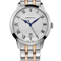 Aerowatch Les Grandes Classiques Steel 40,00mm Silver Roman numerals