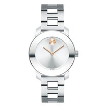 Movado Bold Staal 30mm Zilver
