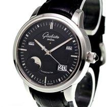 Glashütte Original Platinum Automatic Black No numerals 40.1mm pre-owned Senator Perpetual Calendar