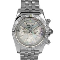 Breitling Chronomat 44 pre-owned 44mm Mother of pearl Chronograph Date Steel