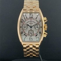 Franck Muller Rose gold Automatic Silver 45mm pre-owned Casablanca