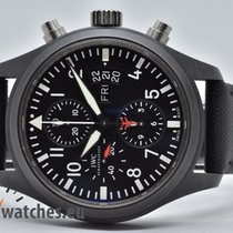 IWC Pilot Chronograph Top Gun Ceramic 44mm Black Arabic numerals