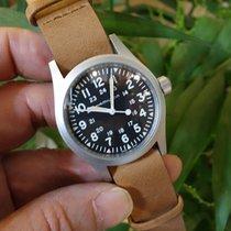 Hamilton Khaki Field H69439531 Hamilton MECCANICO Nero Pelle Marrone 38mm new