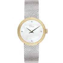 Dior pre-owned Quartz 25mm Mother of pearl Sapphire crystal