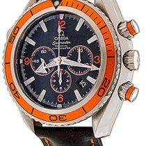Omega Seamaster Planet Ocean Chronograph Steel 45.5mm Black Arabic numerals