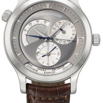 Jaeger-LeCoultre White gold Automatic Silver 38mm pre-owned Master Geographic