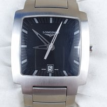 Longines Oposition Steel 33.5mm Black No numerals