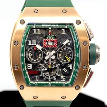 Richard Mille Ruzicasto zlato Automatika Proziran Arapski brojevi 50mm rabljen RM 011