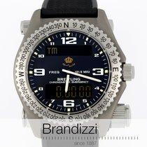 Breitling Emergency nuevo 1998 Cuarzo Reloj con estuche y documentos originales E56321