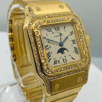 Cartier Жёлтое золото Кварцевые подержанные Santos Galbée