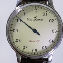 Meistersinger Steel Manual winding Champagne Roman numerals 44mm pre-owned Scrypto