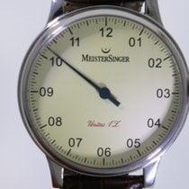 Meistersinger Scrypto Steel 44mm Champagne Roman numerals