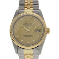 Rolex Oyster Perpetual Datejust Diamond Dial 16233