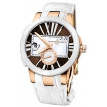 Ulysse Nardin 246-10-3/30-05 Rose gold Executive Dual Time Lady 40mm new