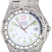Wenger 7914Xb Swiss Military Stainless Steel Band White Dial...