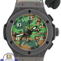 휘블로 Big Bang Jungle Chronograph 44mm Black PVD Stainless...