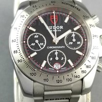 Tudor Sport Chronograph Steel 41mm Black No numerals