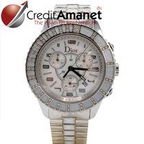 Dior Chronograph 39mm Quarz gebraucht Christal Weiß