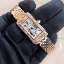 Cartier Tank Américaine Pозовое золото 21mm Белый Римские