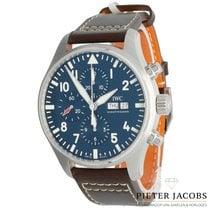 IWC Pilot Chronograph Staal 43mm Blauw Arabisch Nederland, 's Hertogenbosch