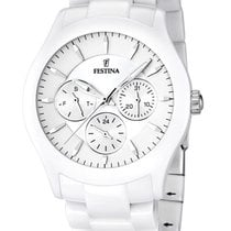Festina Ceramic Quartz White 40mm new