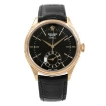 Rolex Cellini Dual Time 42mm Fekete